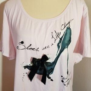 NWT Lane Bryant Size 26/28 Pink Tshirt